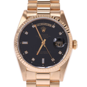 ROLEX Day-Date 10P Diamond 18238A Mens 18K Gold Watch Automatic
