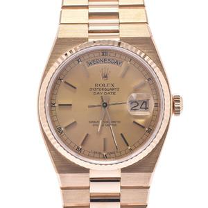ROLEX Day-Date OysterQuartz 19018 Mens 18K Gold Watch Quartz