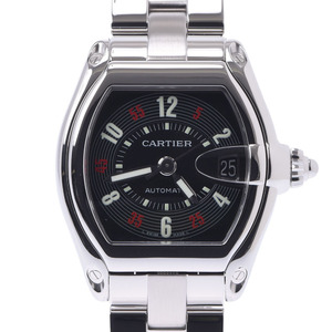 CARTIER Roadster LM Men's SS Watch Automatic Black Dial