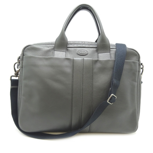 Tod's Tods 2WAY Business Bag Men's Leather Gray
