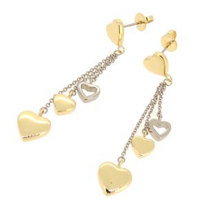 Tiffany Multi Heart Ladies Earrings 750 Yellow Gold