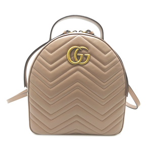 Gucci GG Marmont Backpack Ladies Daypack 476671 Leather
