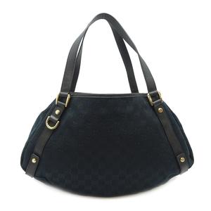 Gucci tote bag ladies shoulder 130736 GG canvas black