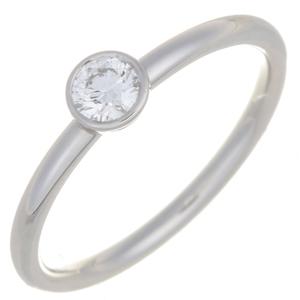 Tiffany Bizet Diamond Ladies Ring/Ring Pt950 Platinum 7.5 Silver