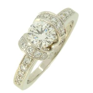 Tiffany Ribbon Diamond Ladies Ring/Ring Pt950 Platinum 11