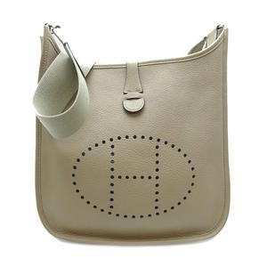 Hermes Evelyn PM□L Engraved Ladies Shoulder Bag Togo Tourtierre Gray