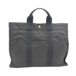 Hermes Ale Line Tote Bag MM Ladies Nylon Gray