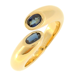 Cartier Ellipse Duted #51 Ladies Ring/Ring 750 Yellow Gold No. 11