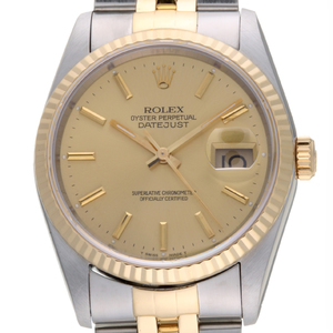 Rolex Datejust X Mens Watch 16233 Stainless Steel Champagne Dial