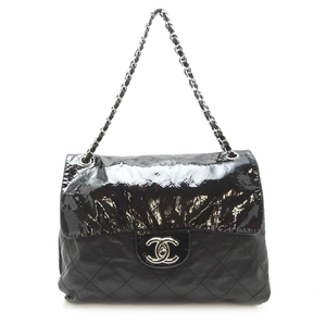 Chanel Chain Tote Ladies Shoulder Bag Leather Black