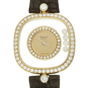 Chopard Happy Diamonds Bezel Rug 4P Diamond Ladies Watch 20 4959 Gold Dial