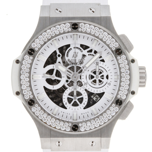 Hublot Big Bang Aerobang Diamond Japan Limited Model Mens 311.SE.2010.RW.1104.JSM12 Stainless Steel White Dial Wrist Watch