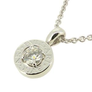Bvlgari BB Diamond 1P Ladies Necklace 750 White Gold