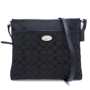 Coach Ladies Shoulder Bag F36378 Canvas Leather Black