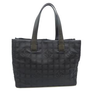 Chanel New Travel Line Tote MM Ladies Handbag A15991 Nylon Black