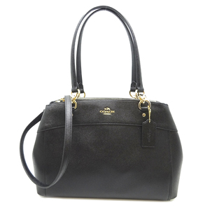 Coach 2WAY Bag Ladies Handbag F25926 Leather Black
