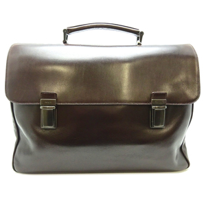 Prada Vitello VITELLO Briefcase Men's V119 Calf EBANO