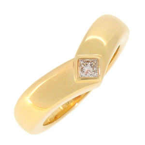 Cartier Triandre # 50 Ladies Ring/Ring 750 Yellow Gold No. 10