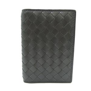 Bottega Veneta Intrecciato Card Holder Ladies' Men's Case Calf Gray