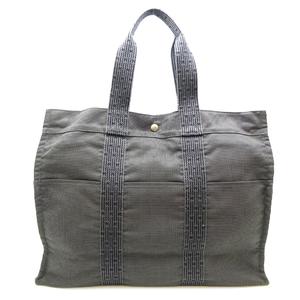 Hermes Ale Line Tote GM Ladies Handbag Nylon Gray
