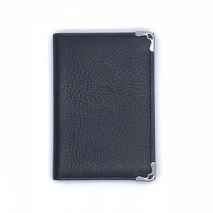 Cartier Mastline Men's Business Card Holder L3001367 Leather Black