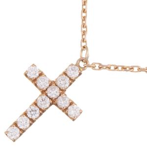 Cartier Symbol Cross Diamond Ladies Necklace B7221800 750 Pink Gold