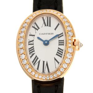 CARTIER Mini baignoire Diamond 18K Pink Gold Quartz Ladies Watch WB520028