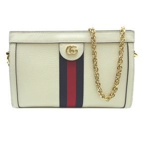 Gucci Ophidia Chain Shoulder Ladies Bag 503877 Leather White