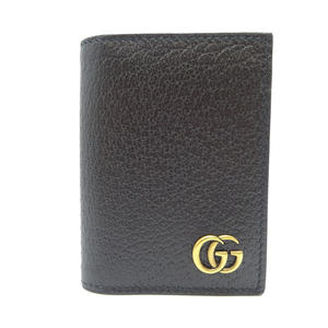 Gucci GG Marmont Business Card Holder Ladies/Men's Case 428737 Leather Black