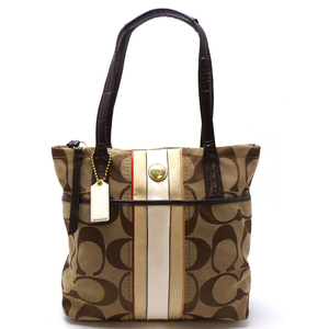 Coach Ladies Tote Bag F24666 Canvas Brown