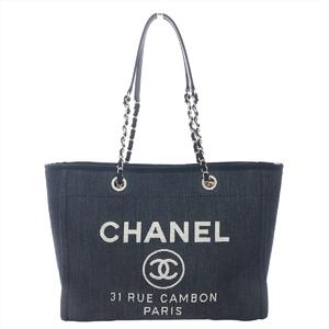 シャネル(Chanel) ドーヴィル A67001 レディース キャンバス トートバッグ ネイビー