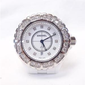 CHANEL J12 Diamond Ceramic Quartz Ladies Watch H2429