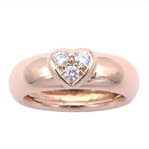 ティファニー(Tiffany) ハートパヴェ K18ピンクゴールド(K18PG) カジュアル ダイヤモンド アニバーサリーリング ピンクゴールド(PG)