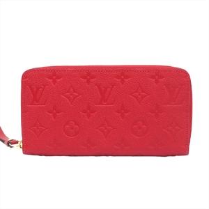 ルイ・ヴィトン(Louis Vuitton) モノグラムアンプラント ジッピーウォレット レディース  カーフレザー カードウォレット スカーレット