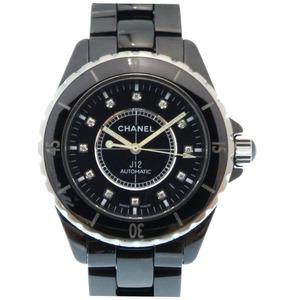 CHANEL J12 12P Diamond Black Ceramic H1626 Self-winding Watch Dial Mens