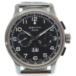 Zenith Pilot Big Date Special Back Scale 03.2410.4010 Self-winding Watch SS Black Dial ZENITH Men's