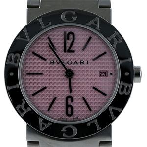 ブルガリ BVLGARI ブルガリブルガリ ギョーシェダイヤル デイト BBL26S クオーツ ピンク文字盤 レディース 腕時計
