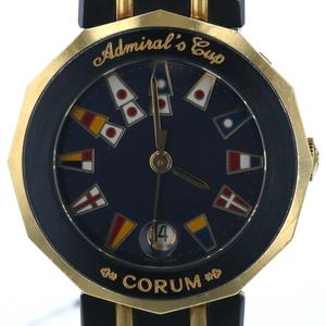 コルム CORUM アドミラルズカップ デイト クオーツ ネイビー文字盤 レディース 腕時計