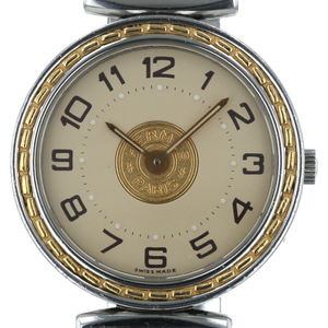 HERMES Sellier Gold Plated Steel Leather Quartz Ladies Watch SE4.220