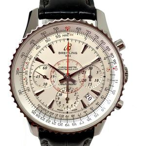 BREITLING Montbrillant 01 Limited watch Manual winding Stainless steel SS leather AB0131