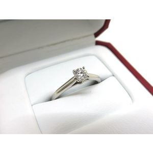 Cartier Solitaire 1895 Platinum Diamond Ring 0.23Ct Pt950 VS1
