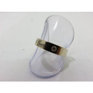 4°C GUCCI Gucci ring K18YG diamond icon print logo 2P accessory