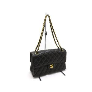 CHANEL Mattrasse W Face Chain Shoulder Bag Gold Hardware