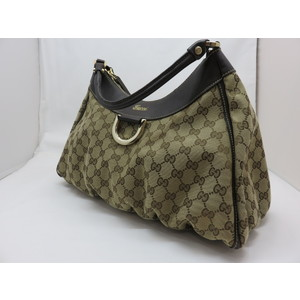 GUCCI Gucci GG pattern one shoulder bag handbag canvas leather ladies