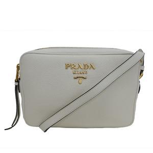 PRADA Prada shoulder bag 1BH082 white leather