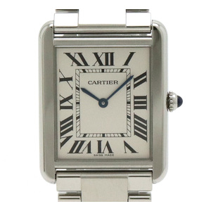 Cartier Tank Solo Watch XL SS Silver Dial Mens AT Automata W5200014