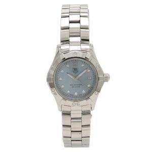 TAG Heuer Aqua Racer Date Ladies Shell Dial 10P Diamond QZ Quartz Wrist Watch WAF1419