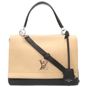 Louis Vuitton Lock Me Cartabre M50252 Leather Vanilla Noir 2WAY Handbag LOUIS VUITTON 2