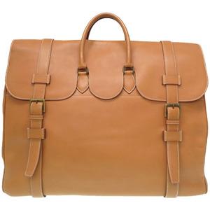 Hermes Voyage Drug Vau Chamonix Gold Boston Bag 〇T Engraved HERMES