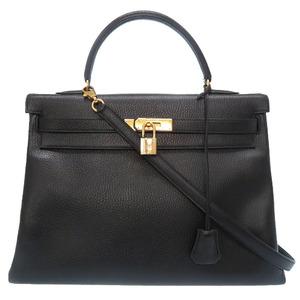 Hermes Kelly 35 In-sewn Ardenne Gold metal fittings □A stamped handbag bag HERMES